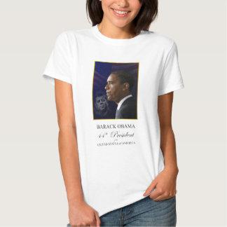 Presidentes Obama y Kennedy - camiseta de las Poleras