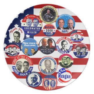 Presidentes republicanos - placa platos para fiestas