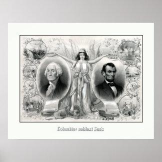 Presidentes Washington y Lincoln Posters