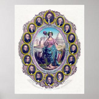 Presidentes y señora Liberty de los E E U U Impresiones