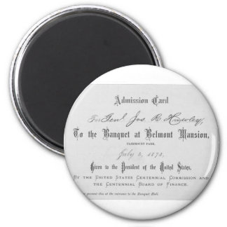 Presidential Banquest Admission Card 2 Inch Round Magnet