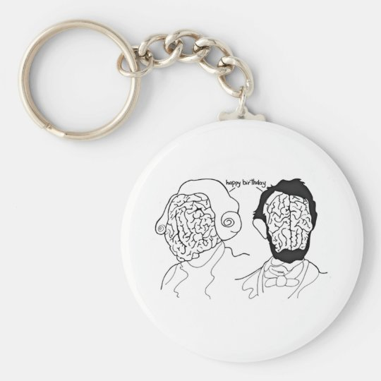 Presidential Brains Keychain