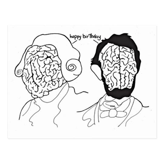 Presidential Brains Postcard