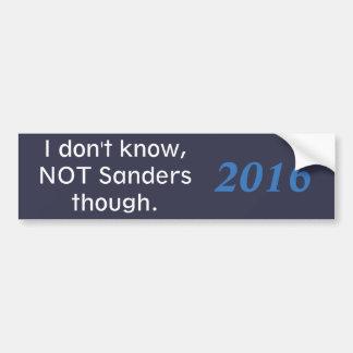 presidential campainging hate bumper sticker