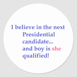 """""""Presidential Candidate"""" Stickers"""