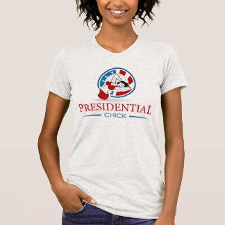 Presidential chick  in shorts shirt. T-Shirt