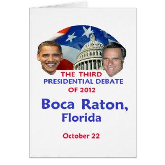 Presidential Debate Card
