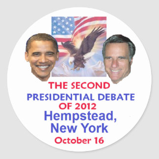 Presidential Debate Classic Round Sticker