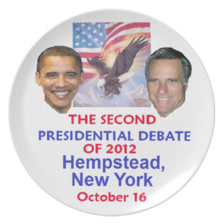 Presidential Debate Dinner Plate