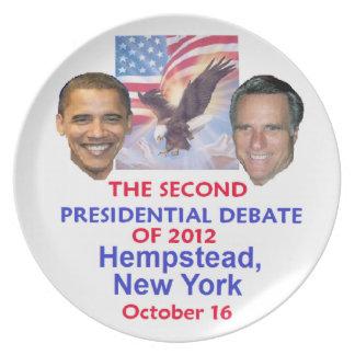 Presidential Debate Dinner Plate