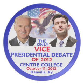 Presidential Debate Plates
