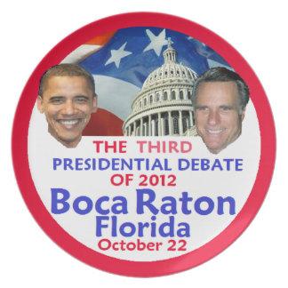 Presidential Debate Plate
