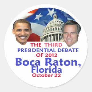 Presidential Debate Round Sticker