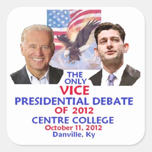 Presidential Debate Square Sticker