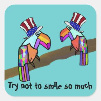 Presidential Debate Toucan Cartoon Sticker