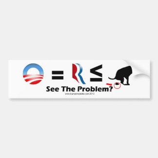 Presidential Dog Poop Bumper Sticker