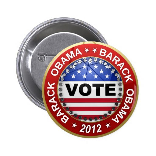 Presidential Election 2012 Barack Obama 2 Inch Round Button