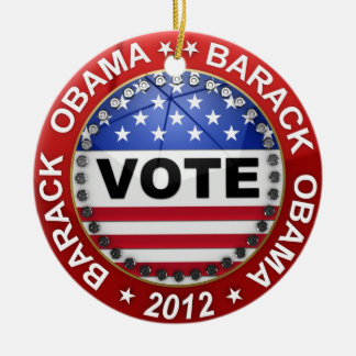 Presidential Election 2012 Barack Obama Ceramic Ornament