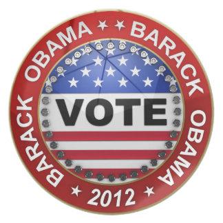 Presidential Election 2012 Barack Obama Dinner Plate