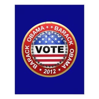 Presidential Election 2012 Barack Obama Personalized Flyer