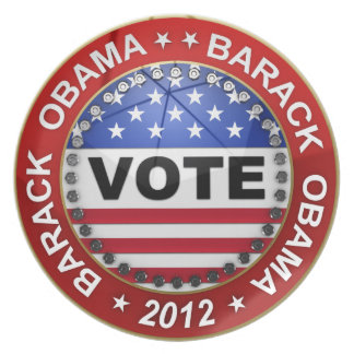 Presidential Election 2012 Barack Obama Party Plates