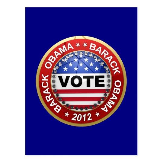 Presidential Election 2012 Barack Obama Postcard