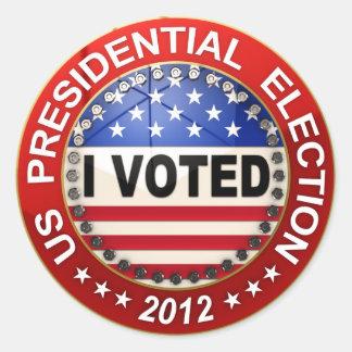 Presidential Election 2012 I voted Round Sticker