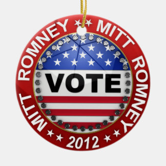 Presidential Election 2012 Mitt Romney Ceramic Ornament