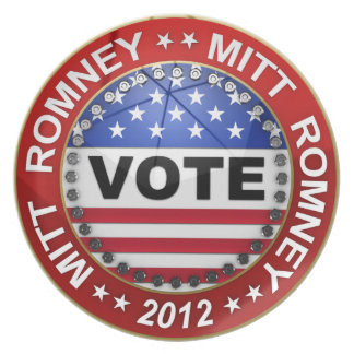 Presidential Election 2012 Mitt Romney Dinner Plate