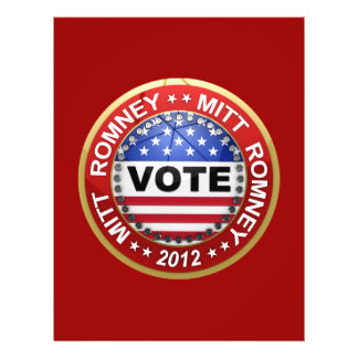 Presidential Election 2012 Mitt Romney Personalized Flyer
