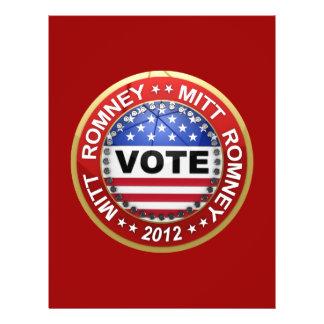 Presidential Election 2012 Mitt Romney Flyer
