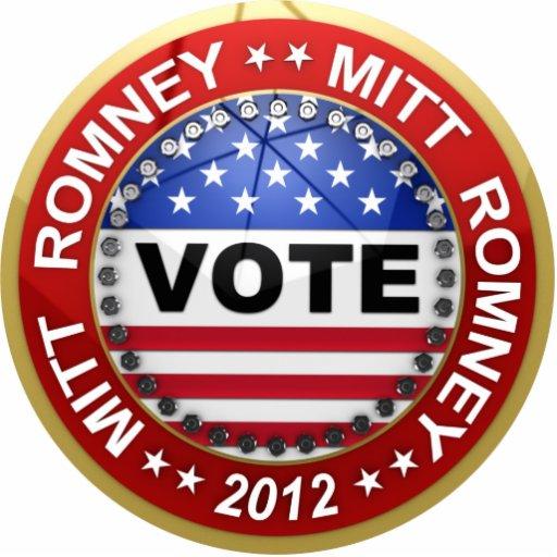 Presidential Election 2012 Mitt Romney Photo Sculpture Button