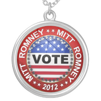 Presidential Election 2012 Mitt Romney Round Pendant Necklace