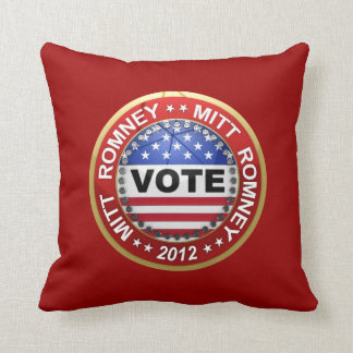 Presidential Election 2012 Mitt Romney Throw Pillow
