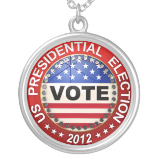 Presidential Election 2012 Vote Round Pendant Necklace