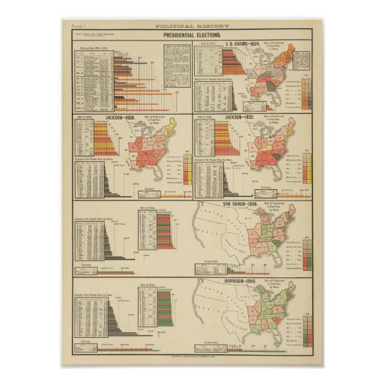 Presidential elections 1824-1840 poster