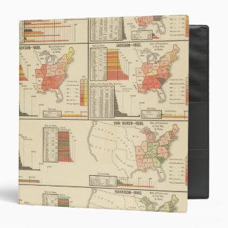 Presidential elections 1824-1840 vinyl binders