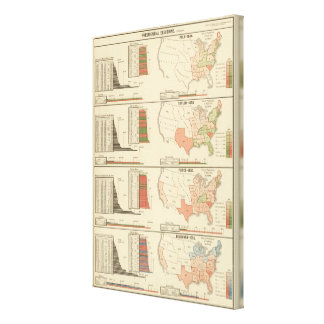 Presidential elections 1844-1856 stretched canvas prints