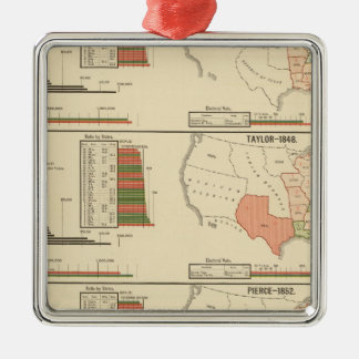 Presidential elections 1844-1856 metal ornament