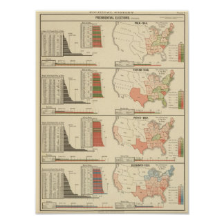 Presidential elections 1844-1856 poster