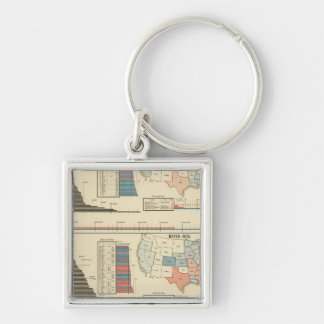 Presidential elections  1872-1880 keychain
