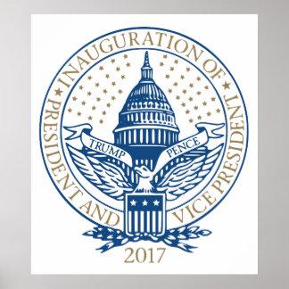 Presidential Inauguration Trump Pence 2017 Logo Poster