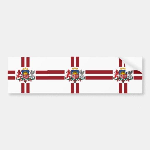 Presidential   Latvia, Latvia Car Bumper Sticker