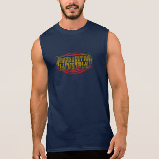 PRESIDENTIAL LIFESTYLE FADED YELLOW SLEEVELESS SHIRT