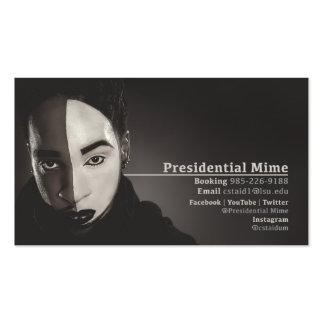 Presidential Mime - Business Card