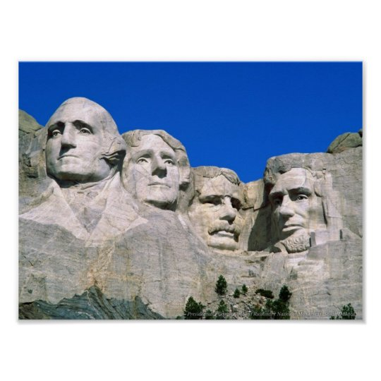 Presidential Portraits, Mount Rushmore Poster