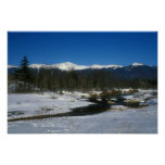 Presidential Range White Mountains in Winter Posters
