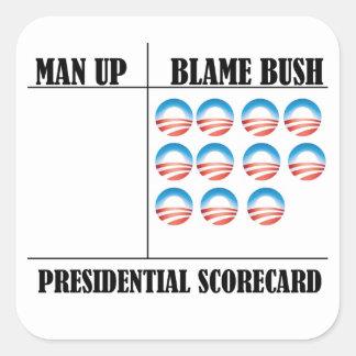Presidential Scorecard Square Sticker