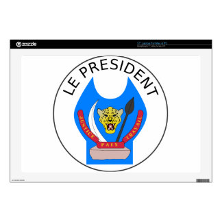 """Presidential_Seal_of_the_Democratic_Republic Of Th 17"""" Laptop Skins"""