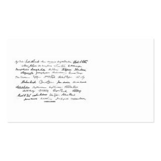 Presidential Signatures (United States Presidents) Business Card
